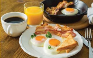 Завтрак в подарок при заказе номеров через сайт гостиницы